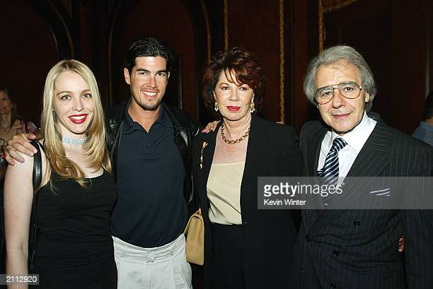 Lalo Schifrin poses with his wife Donna son Ryan and Ryan's fiance Teresa at the Latin American Cinemateca's presentation of the 1958 Argentine film...