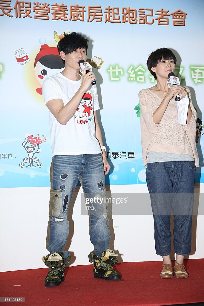 Lam JJ attend Child welfare charitable activity on Monday June 24,2013 in Taipei Taiwan,China.