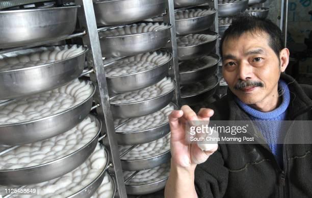 Lam Lawping owner of Tal Hing Food products wholesaler fishball stall at Kowloon City 26DEC12