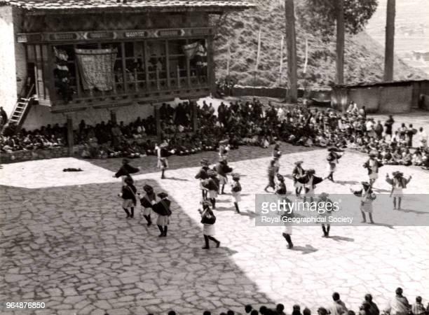 Lama dance at Paro Bhutan 1933