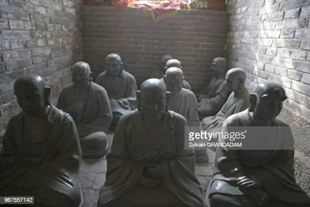 Lama rite Tayuan temple Wutai shan one of the most ancient and renowned buddhist pilgrimage sites in China Shanxi Province Chine //Temple de Tayuan...