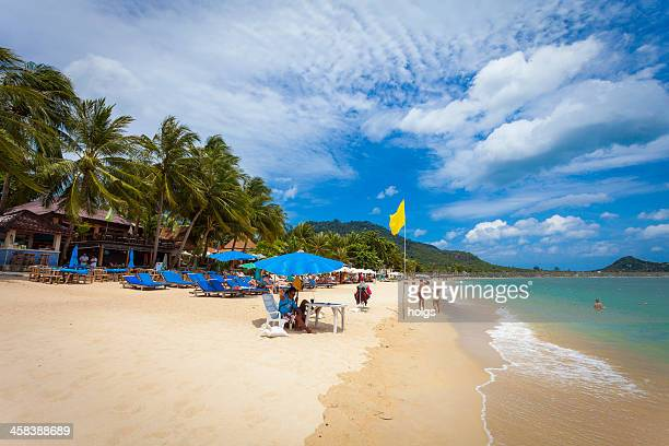 lamai beach, koh samui thailand - ko samui stock photos and pictures