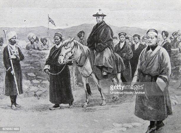 A Lamaite Dignitary entering Colonel Younghusband's Camp Colonel Younghusband was on a mission from the Government of India to Lhasa The Treaty of...