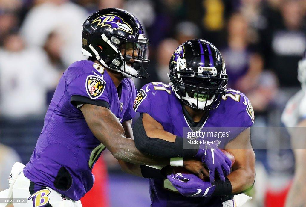 Divisional Round - Tennessee Titans v Baltimore Ravens : ニュース写真