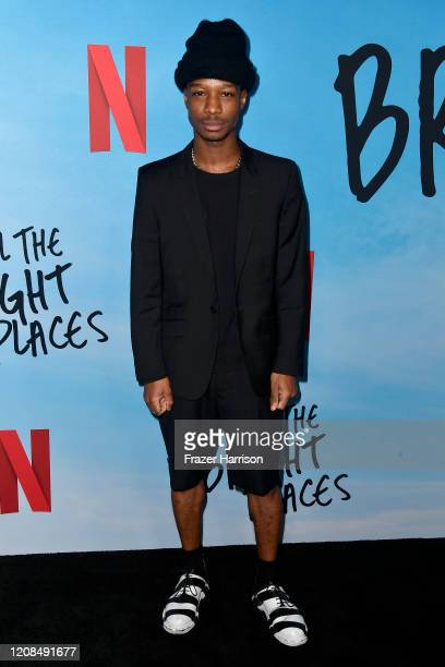 Lamar Johnson attends the Special Screening of Netflix's All The Bright Places at ArcLight Hollywood on February 24 2020 in Hollywood California