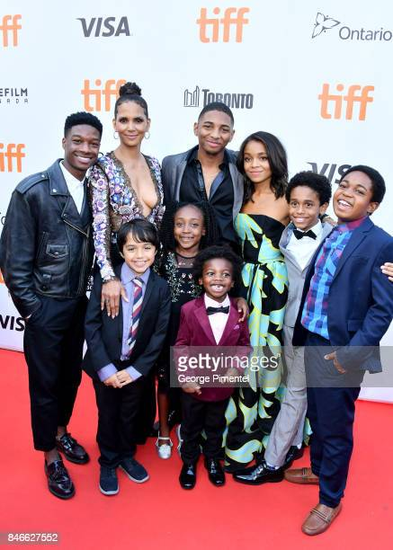 Lamar Johnson Halle Berry Callan Farris Serenity Brown Kaalan Rashad Walker Aiden Akpan Rachel Hilson Reece Cody and Issac Brown attend the 'Kings'...