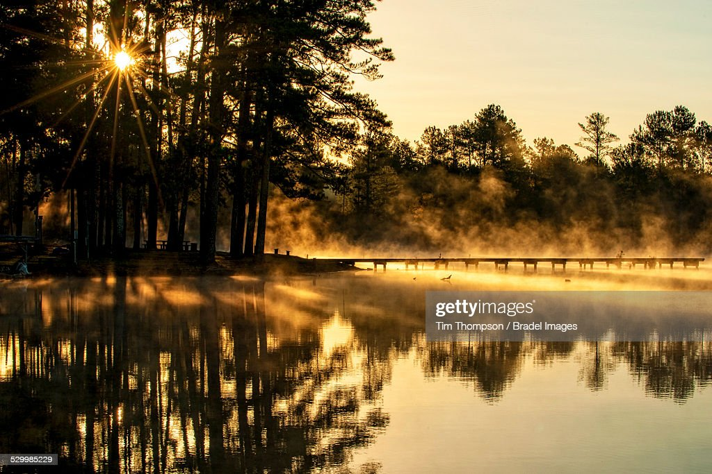 Lamar Lake Sunrise : Stock Photo