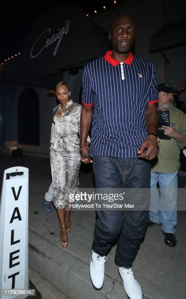 Lamar Odom and Sabrina Parr are seen on August 02 2019 in Los Angeles California