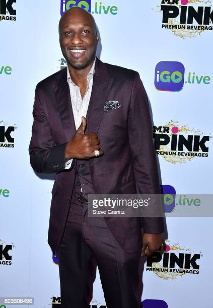 Lamar Odom arrives at the iGolive Launch Event at the Beverly Wilshire Four Seasons Hotel on July 26 2017 in Beverly Hills California