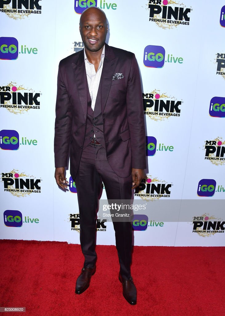 Lamar Odom arrives at the iGo.live Launch Event at the Beverly Wilshire Four Seasons Hotel on July 26, 2017 in Beverly Hills, California.