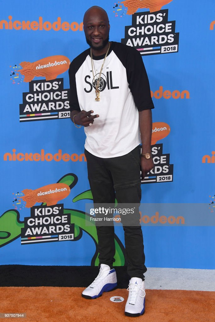Lamar Odom attends Nickelodeon's 2018 Kids' Choice Awards at The Forum on March 24, 2018 in Inglewood, California.