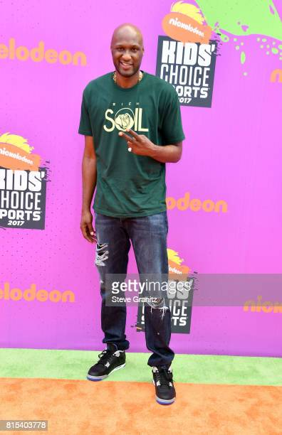Lamar Odom attends the Nickelodeon Kids' Choice Sports Awards 2017 at Pauley Pavilion on July 13, 2017 in Los Angeles, California.