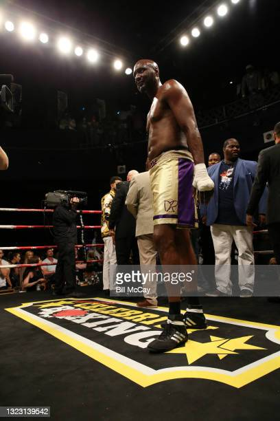 Lamar Odom during his celebrity boxing match at Showboat Atlantic City on June 11, 2021 in Atlantic City, New Jersey.