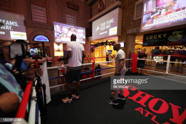 Lamar Odom is seen during his workout for his upcoming Celebrity Boxing match at Showboat Atlantic City on June 08, 2021 in Atlantic City, New Jersey.