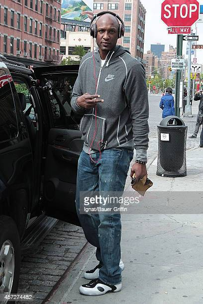 Lamar Odom is seen on April 25 2012 in New York City