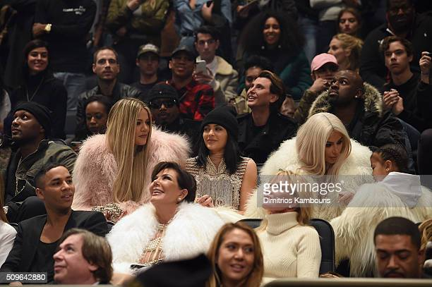Lamar Odom Khloe Kardashian Kylie Jenner Kim Kardashian North West Olivier Rousteing Kris Jenner and Melanie Griffith attend Kanye West Yeezy Season...