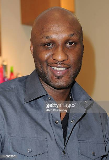 Lamar Odom makes a personal appearance to promote his and Khloe Kardashian Odom's 'Unbreakable Bond' fragrance at Perfumania on June 7 2012 in Orange...
