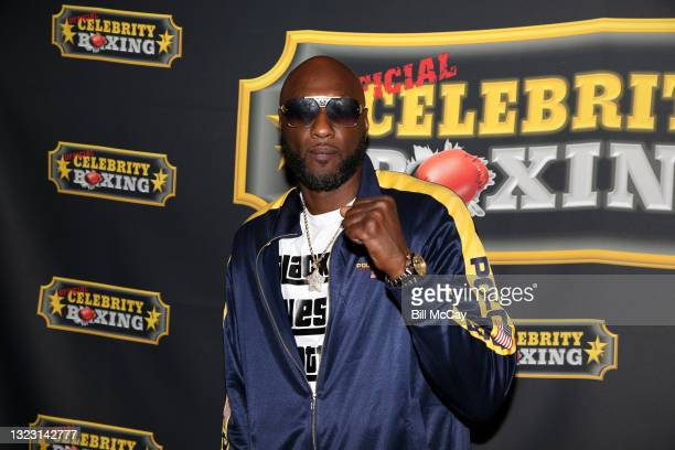 Lamar Odom poses at the Celebrity Boxing match between Lamar Odom and Aaron Carter at Showboat Atlantic City on June 11, 2021 in Atlantic City, New...