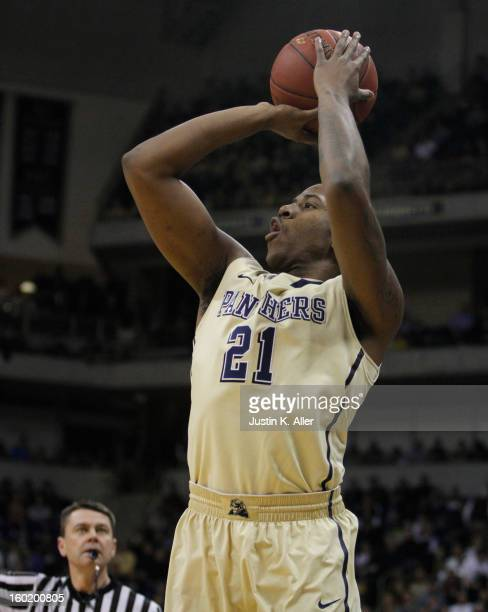 Lamar Patterson of the Pittsburgh Panthers handles the ball against the DePaul Blue Demons at Petersen Events Center on January 26, 2013 in...