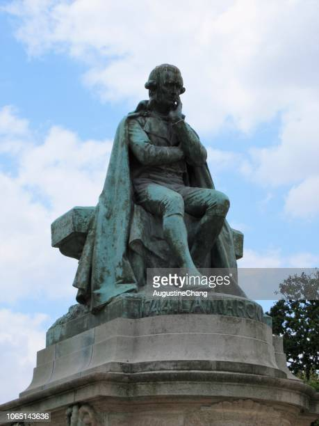 lamarck monument - jean baptiste lamarck stock photos and pictures