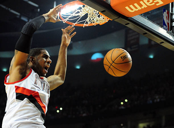 LaMarcus Aldridge Of The Portland Trail Blazers Vs. Rockets Wall Art