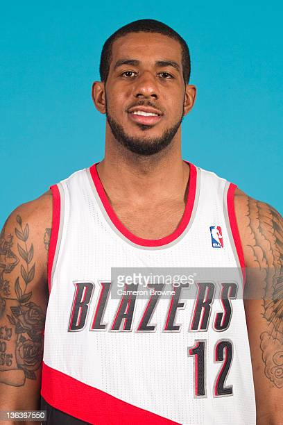 LaMarcus Aldridge of the Portland Trail Blazers poses for a portrait during Media Day on December 16 2011 at the Rose Garden Arena in Portland Oregon...