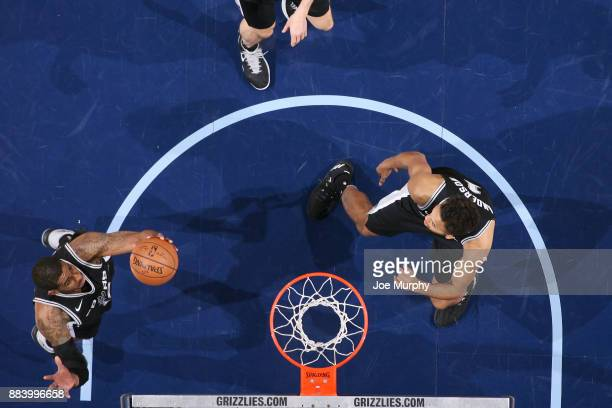 LaMarcus Aldridge of the San Antonio Spurs dunks against the Memphis Grizzlies on December 1 2017 at FedExForum in Memphis Tennessee NOTE TO USER...