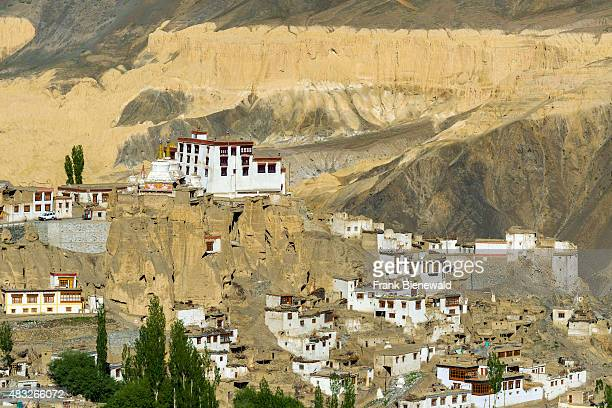 Lamayuru Gompa a very old monastery is located in barren landscape