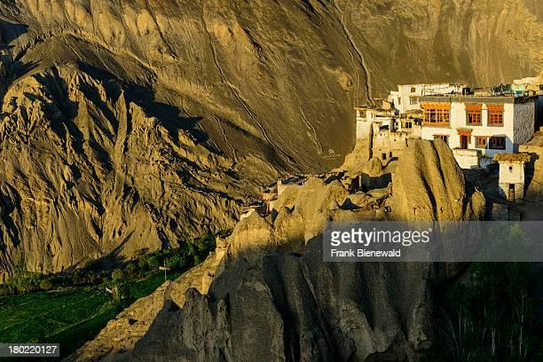 LADAKH LAMAYURU JAMMU KASHMIR INDIA Lamayuru Gompa surrounded by barren landscape is the oldest and largest existing monastery in Ladakh built on a...