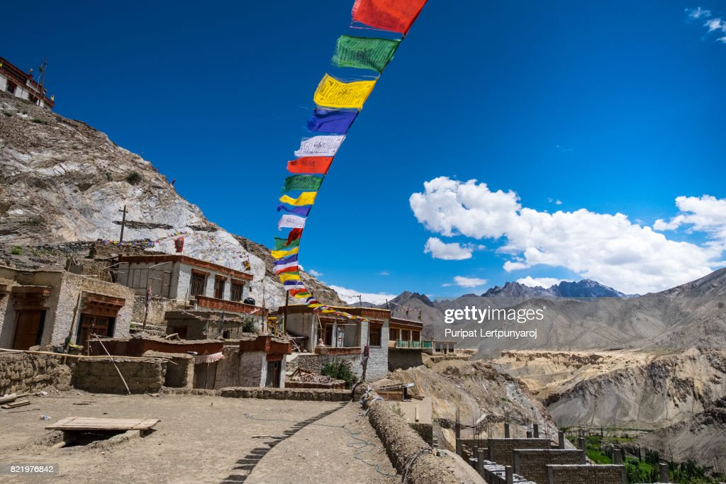 Lamayuru Monastery, the famous Tibetan Buddhist monastery in Leh District, India : Stock Photo