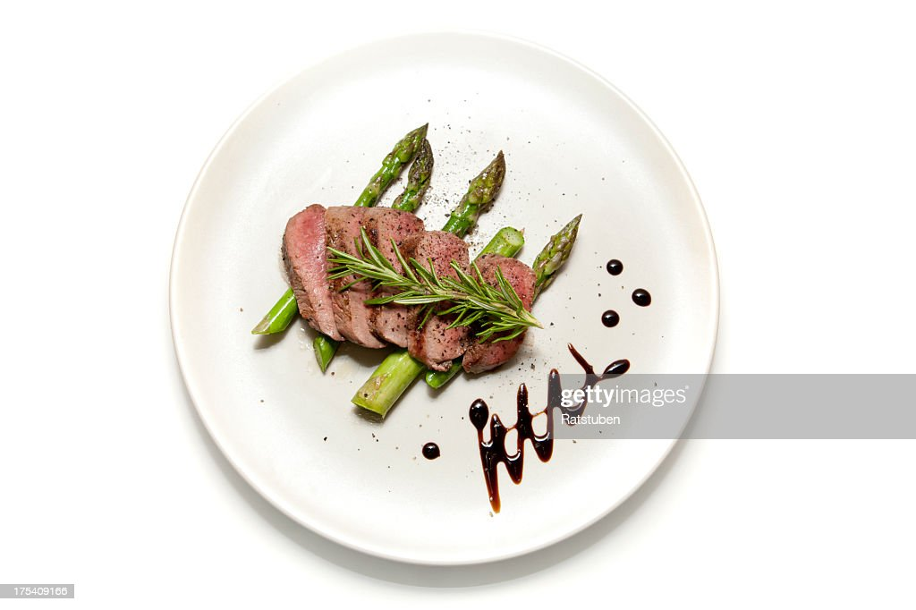 Lamb and Aparagus : Stockfoto