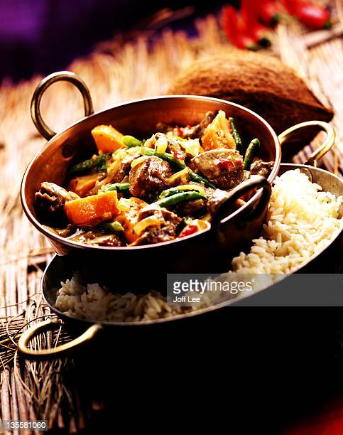 Lamb balti curry with rice
