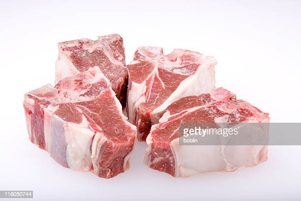 lamb chops - raw food stock pictures, royalty-free photos & images