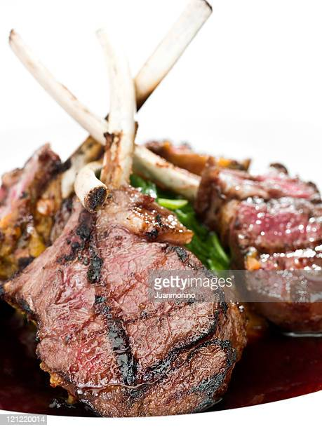 lamb chops - course meal stock pictures, royalty-free photos & images