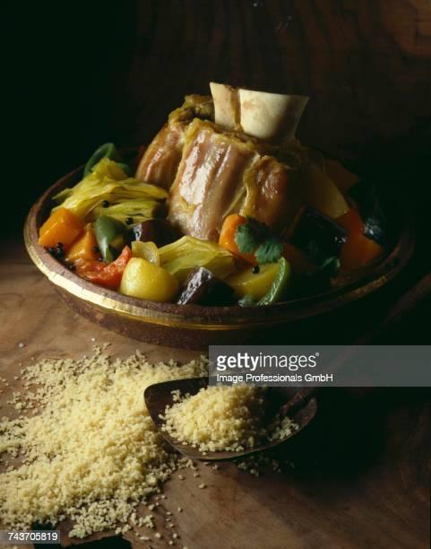 lamb couscous - couscous photos et images de collection