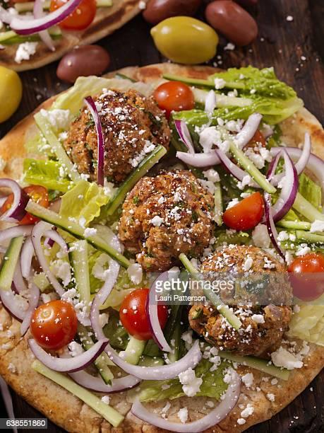 100% Lamb -Greek Meatball Souvlaki Wrap