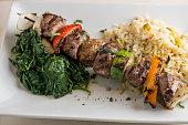 lamb kebabs with grilled vegetableszucchini red