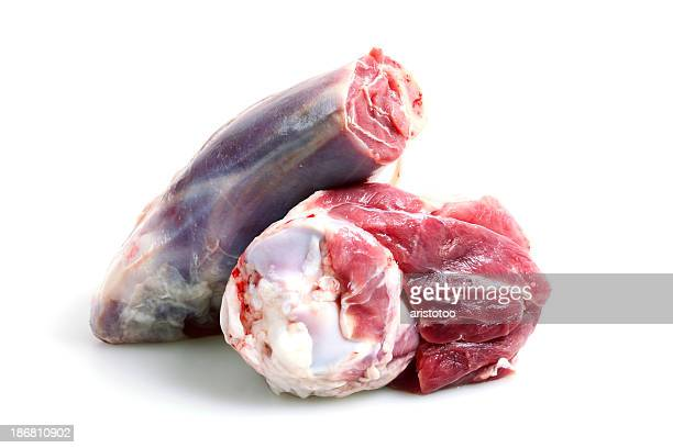 Lamb Shanks, Isolated on White