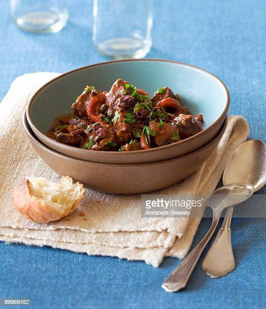 Lamb stew with roasted peppers