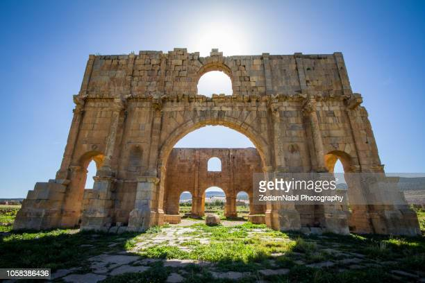 lambaesis, the praetoreum - algeria stock pictures, royalty-free photos & images