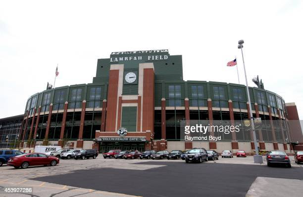 Lambeau Field home of the Green Bay Packers football team on August 16 2014 in Green Bay Wisconsin