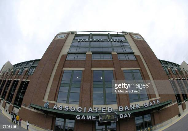 Lambeau Field home of the Green Bay Packers renovated in 2003 is set for play August 16 2004