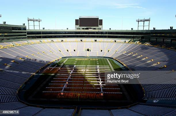 Lambeau Field keeps its grass green in the winter by using these Mobile Grow Lamps as shown on the Green Bay Packers playing field at Lambeau Field...