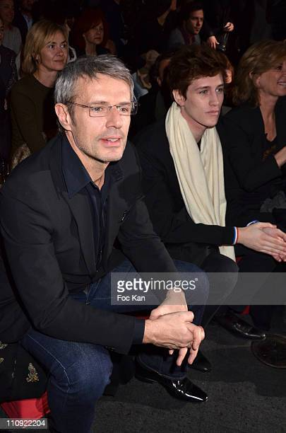 Lambert Wilson and Jean Baptiste Maunier attends the Paul and Joe Ready to Wear Fall/Winter 2011/2012 show during Paris Fashion Week at the Olympia...
