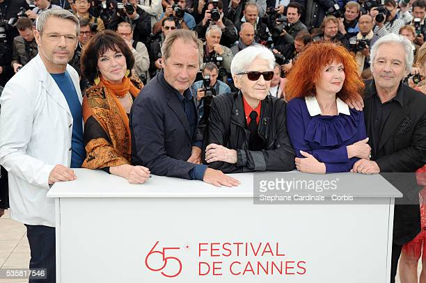 Lambert Wilson Annie Duperey Hippolyte Girardot Alain Resnais Sabine Azema Pierre Arditi and Anne Consigny at the photo call for 'Vous n'avez encore...