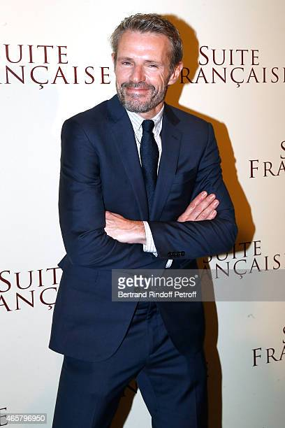 Lambert Wilson attends the world premiere of 'Suite Francaise' at Cinema UGC Normandie on March 10 2015 in Paris France