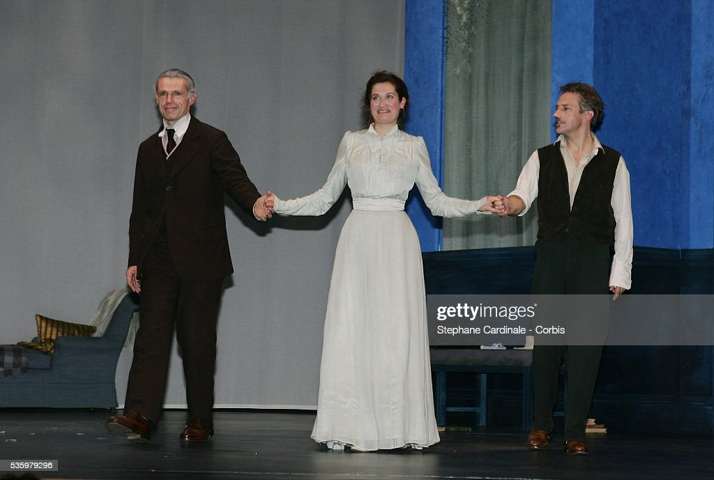 Lambert Wilson, Emmanuelle Devos and Jean-Pierre Lorit perform in a production of the August Strindberg play 'Creanciers.'