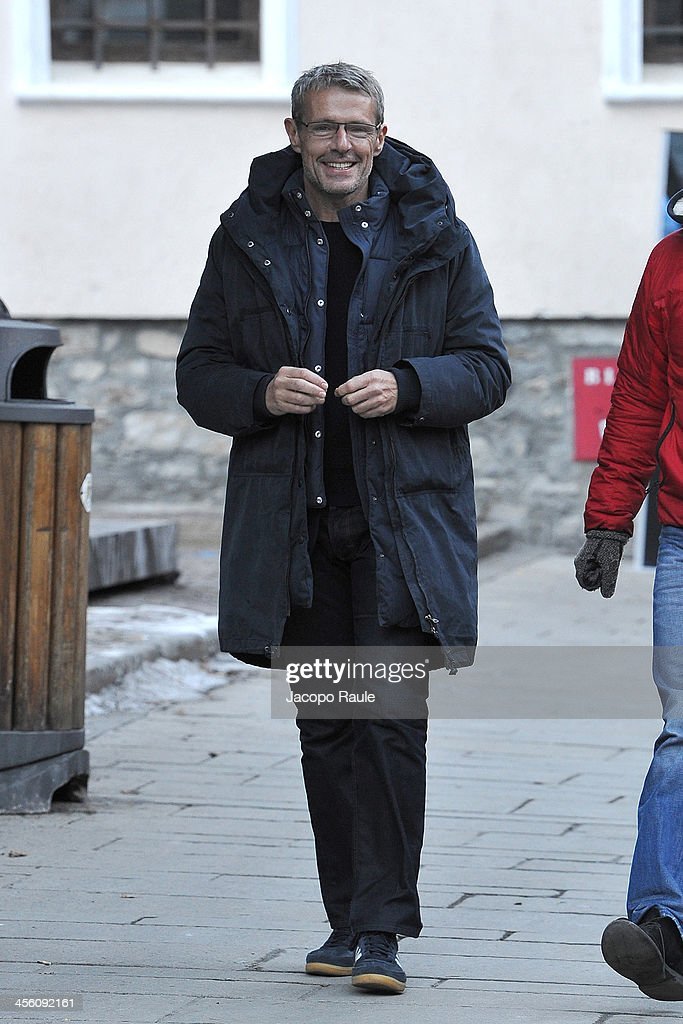 Celebrity Sightings In Courmayeur - December 13, 2013