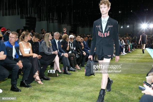 Lambert Wilson Natasha Andrews Pierre Niney Louis Vuitton's executive vice president Delphine Arnault Owner of LVMH Luxury Group Bernard Arnault his...