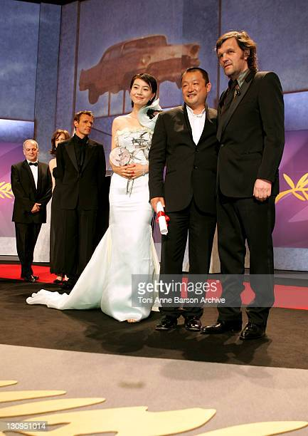 Lambert Wilson Penelope Cruz Wang Xiaoshuai Winner of Prix du Jury for 'Shanghai Dreams ' and Emir Kusturica